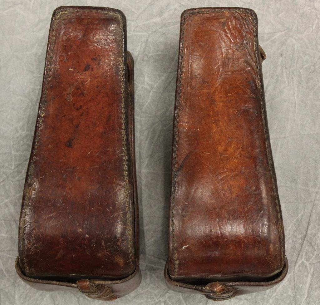 Pair of Brown Leather Stirrups - 4