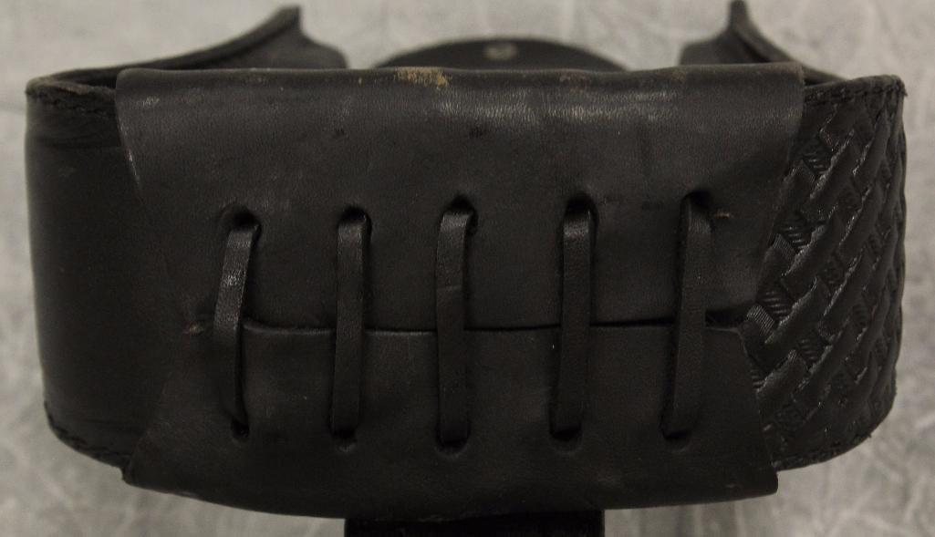 Pair of Black Leather Stirrups - 6