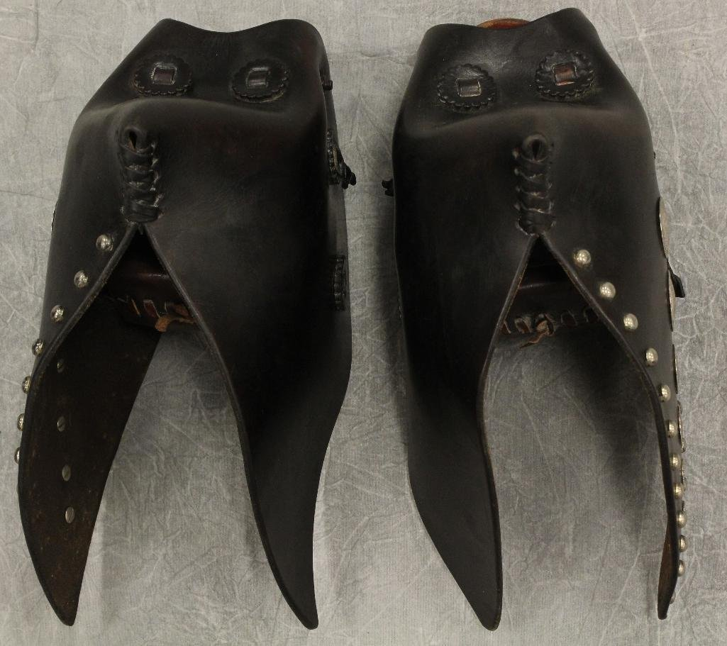 Pair of Black and Silver Concho Tapedaros