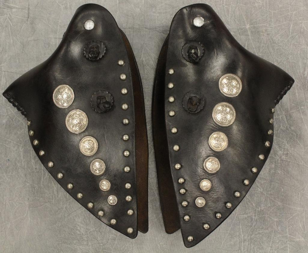 Pair of Black and Silver Concho Tapedaros - 2