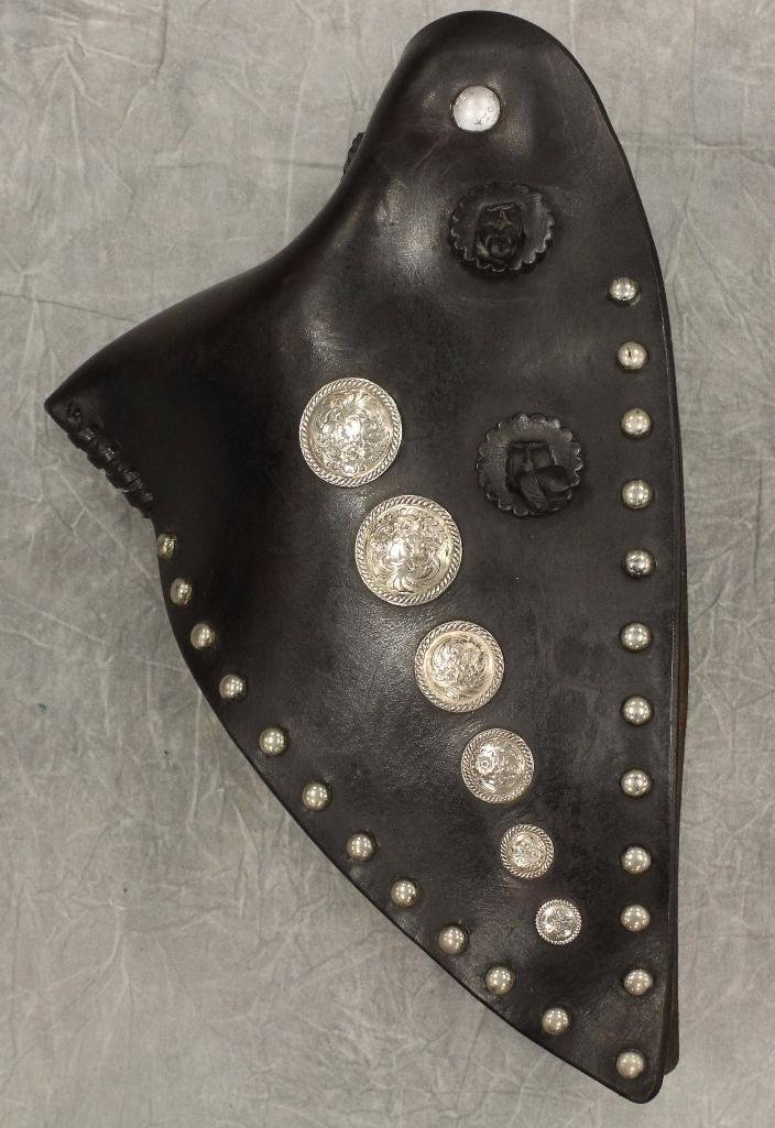 Pair of Black and Silver Concho Tapedaros - 3