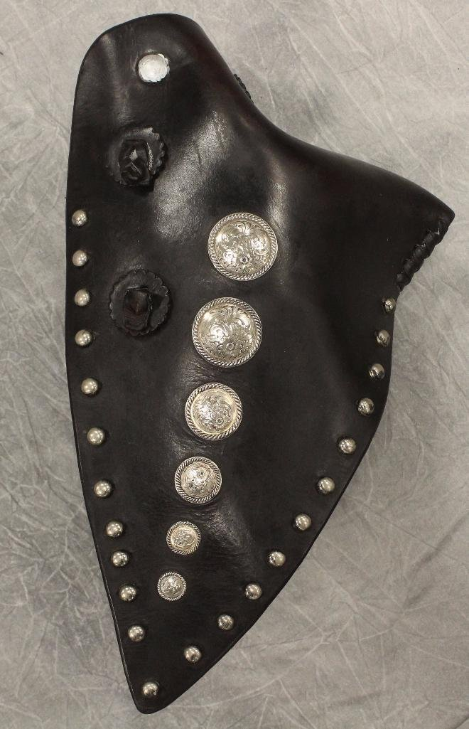Pair of Black and Silver Concho Tapedaros - 4
