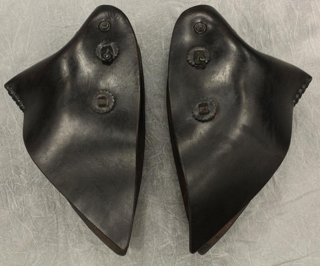 Pair of Black and Silver Concho Tapedaros - 5