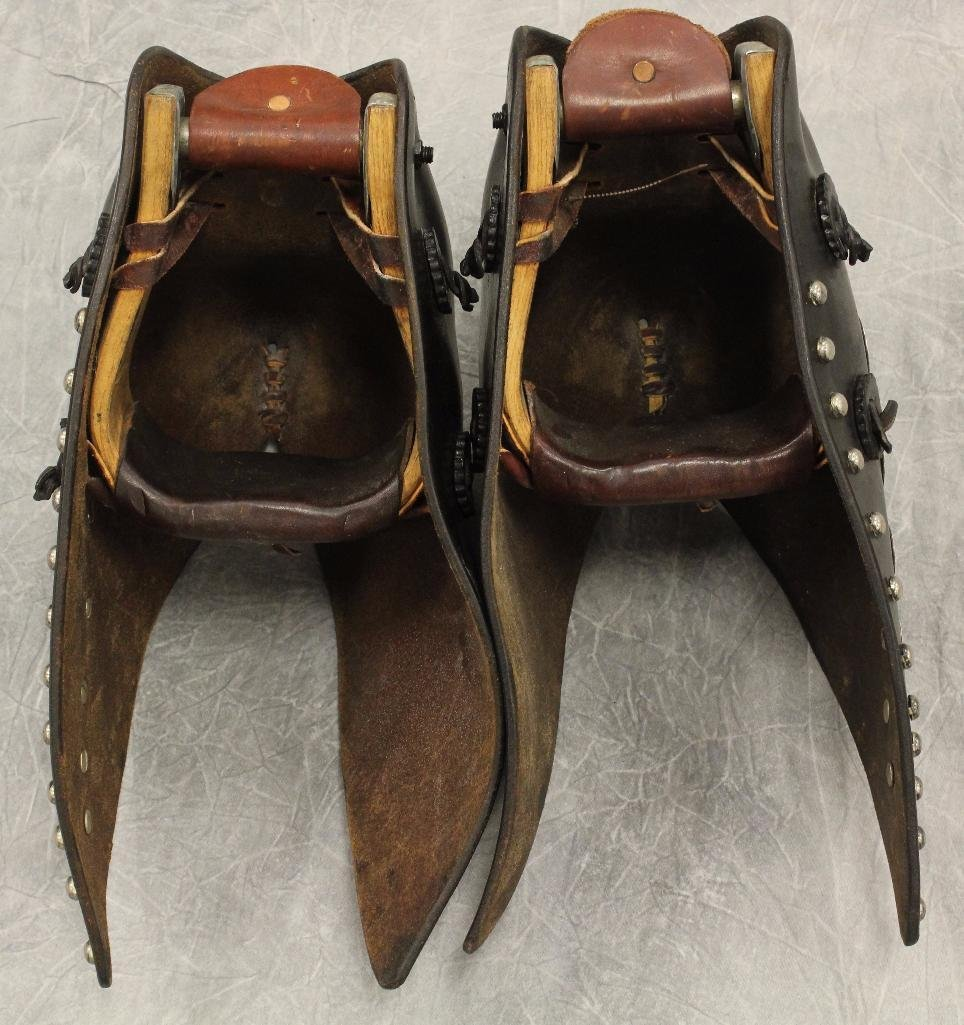 Pair of Black and Silver Concho Tapedaros - 6