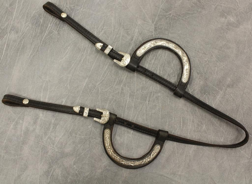 Simca Silver Double Ear Black Bridle
