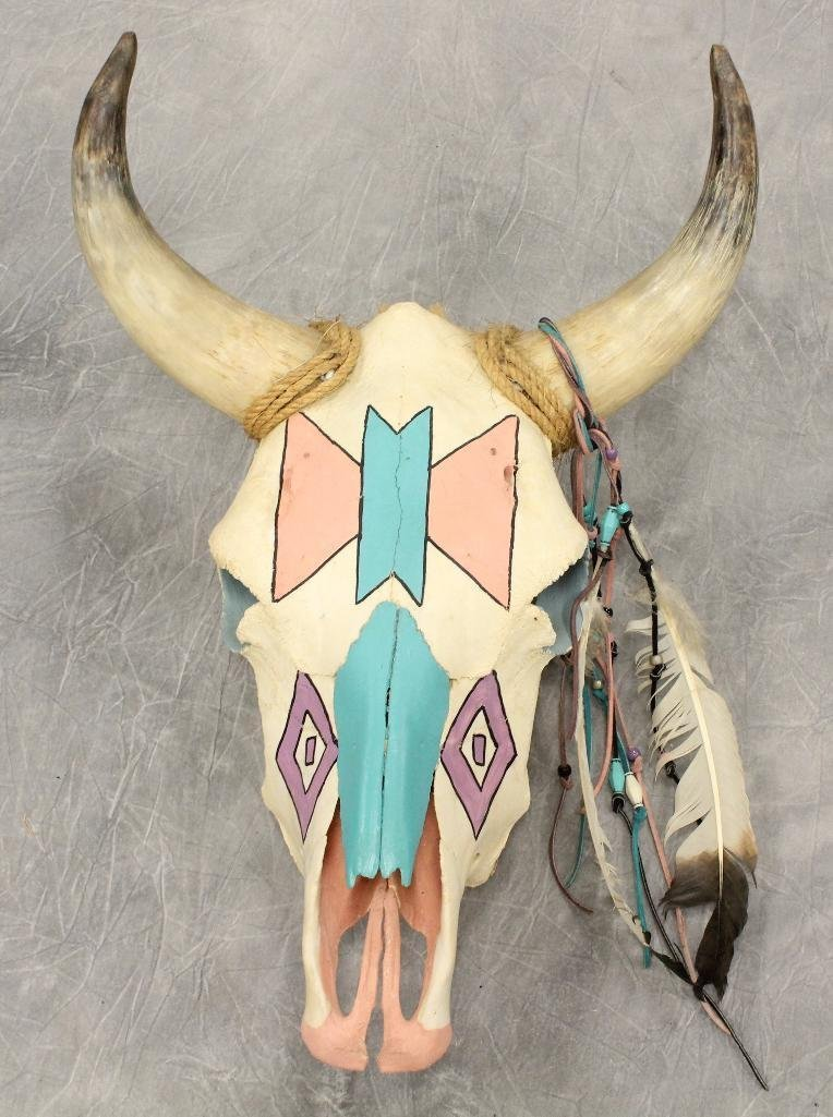 Steer Skull Painted Face