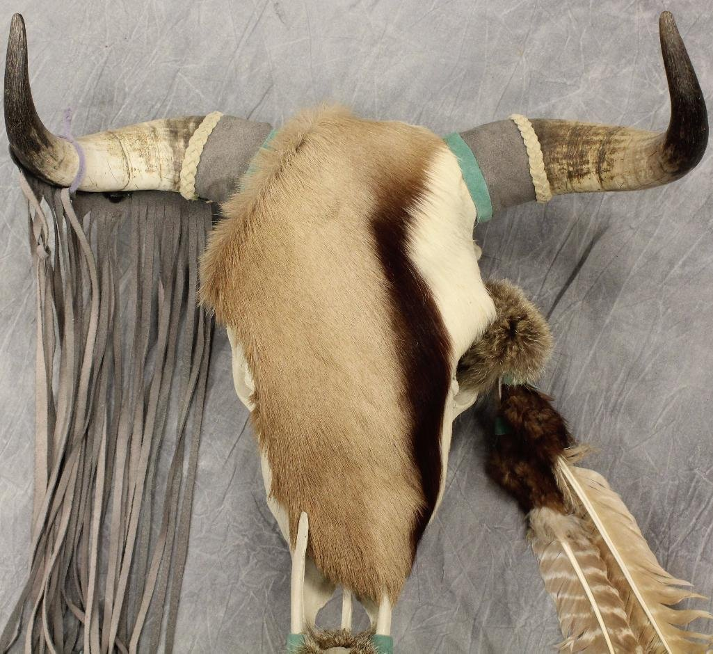 Steer Skull Fur Covering - 4
