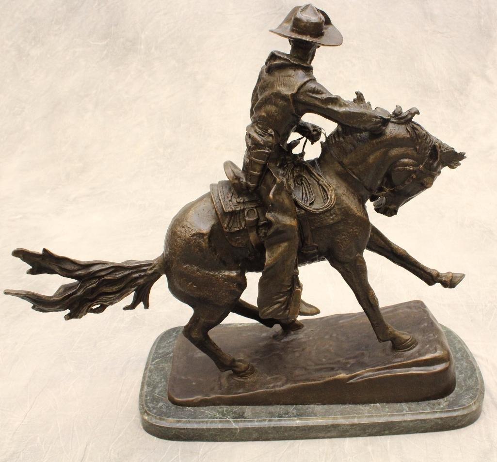 Remington Reproduction Cowboy Bronze - 3
