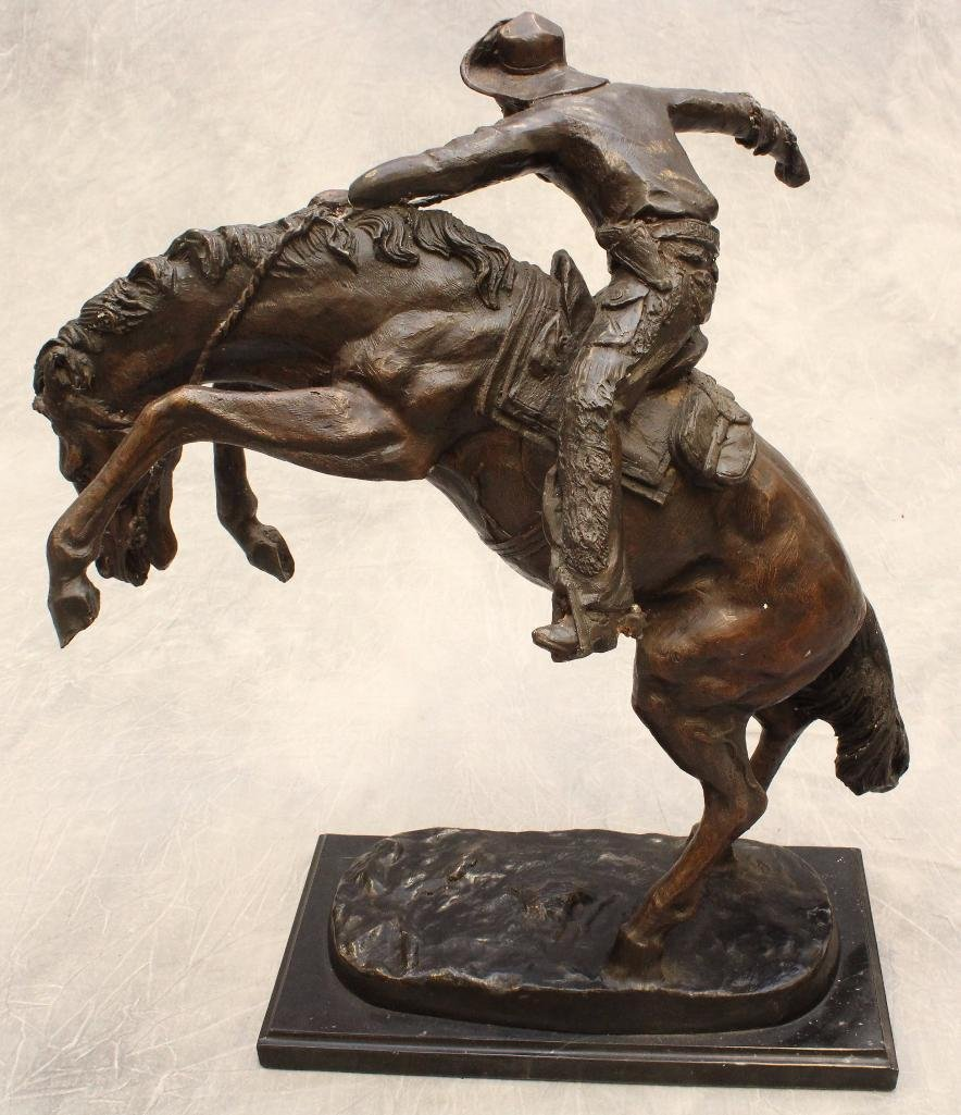 Remington Reproduction Cowboy Bronze - 3