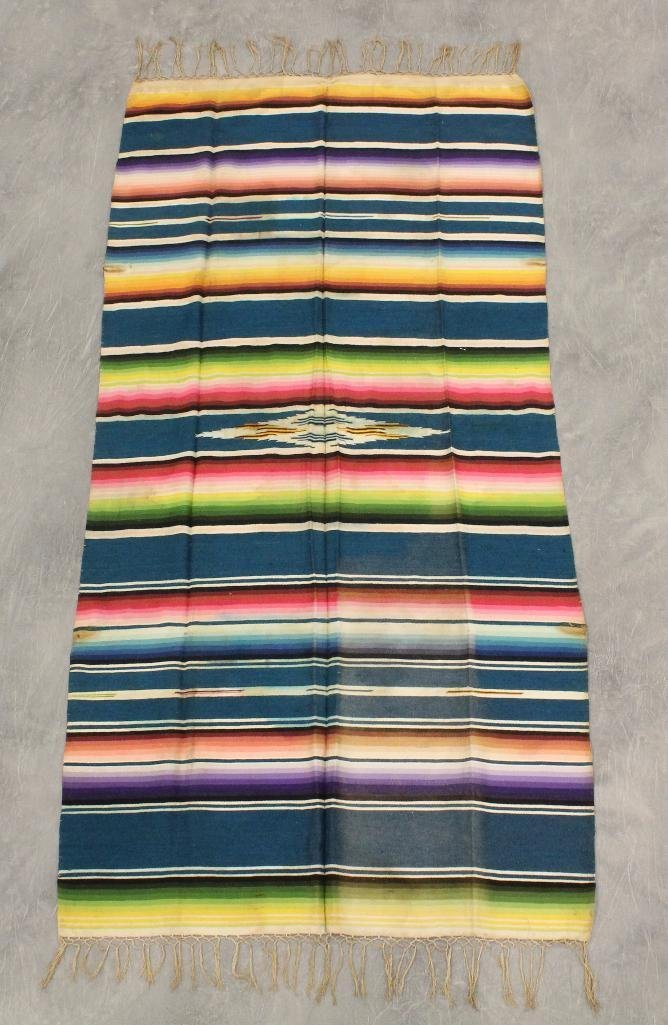 Mexican Multi-Color Fringe Blanket