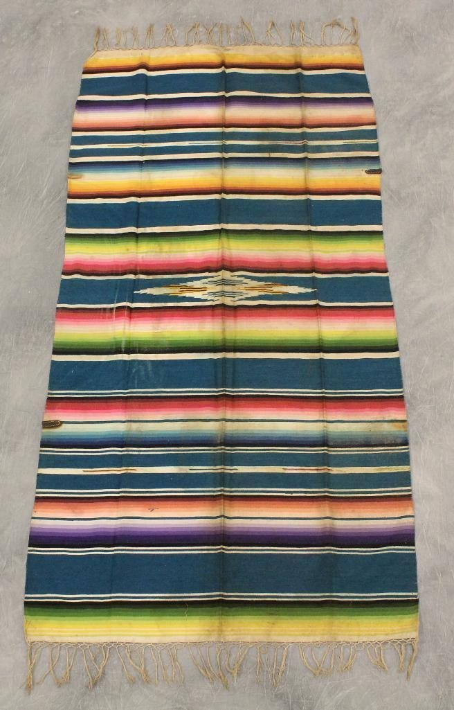 Mexican Multi-Color Fringe Blanket - 3