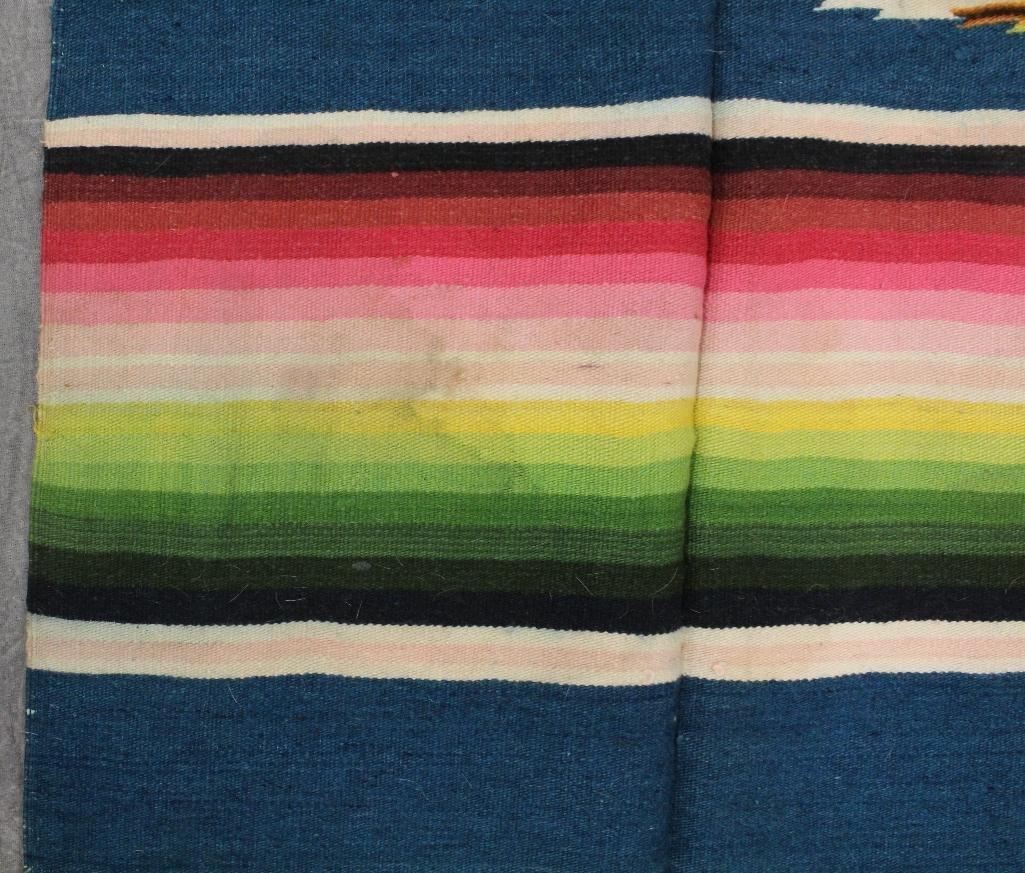 Mexican Multi-Color Fringe Blanket - 6