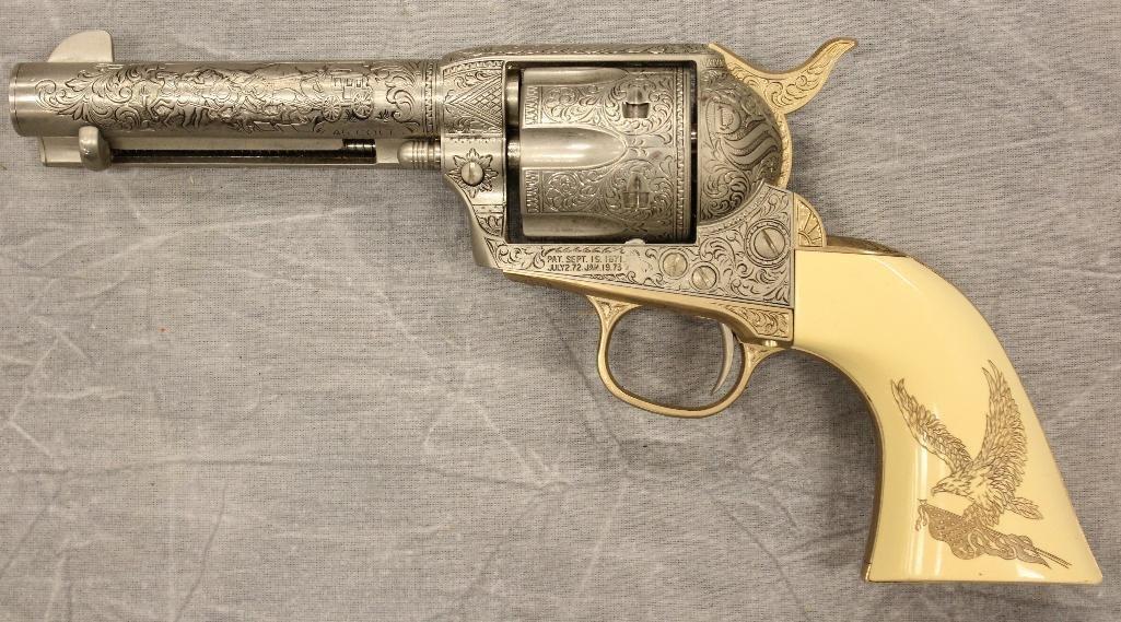 John Wayne Franklin Mint Replica 45 cal Colt Pistol - 7