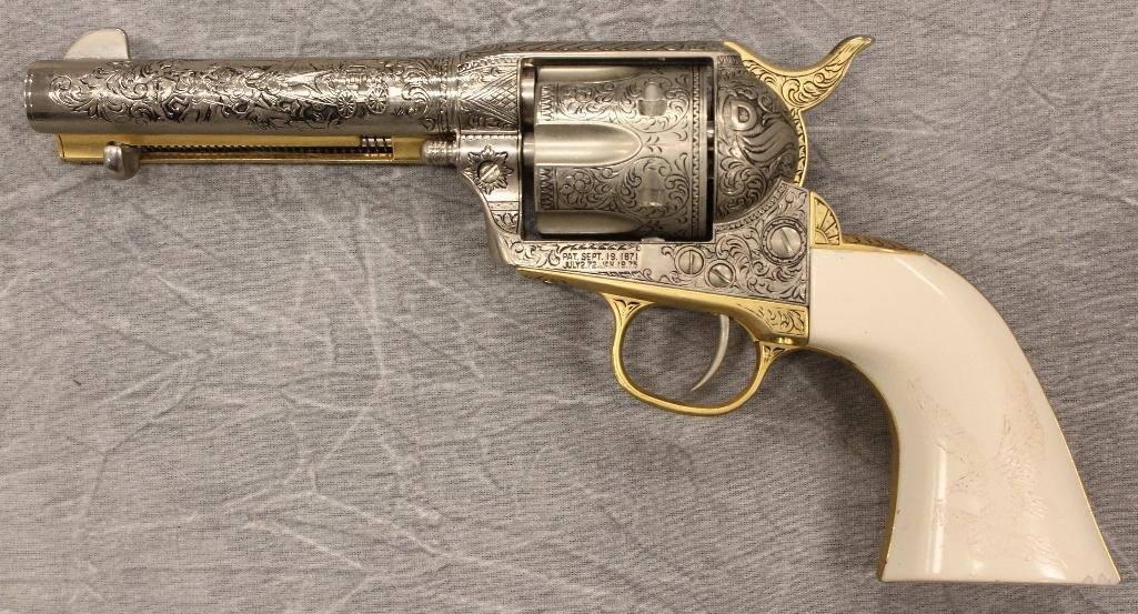 Replica Engraved Eagle Grip Pistol - 7