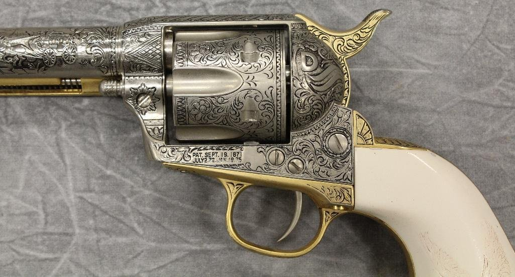 Replica Engraved Eagle Grip Pistol - 9