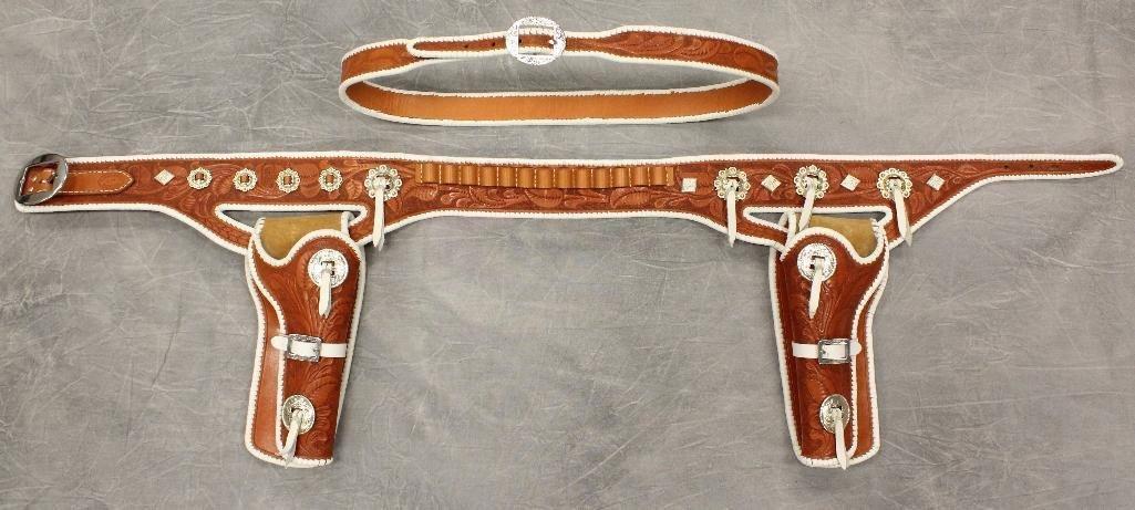 Buck Jones Double Buscadero Holsters and Gun Belt
