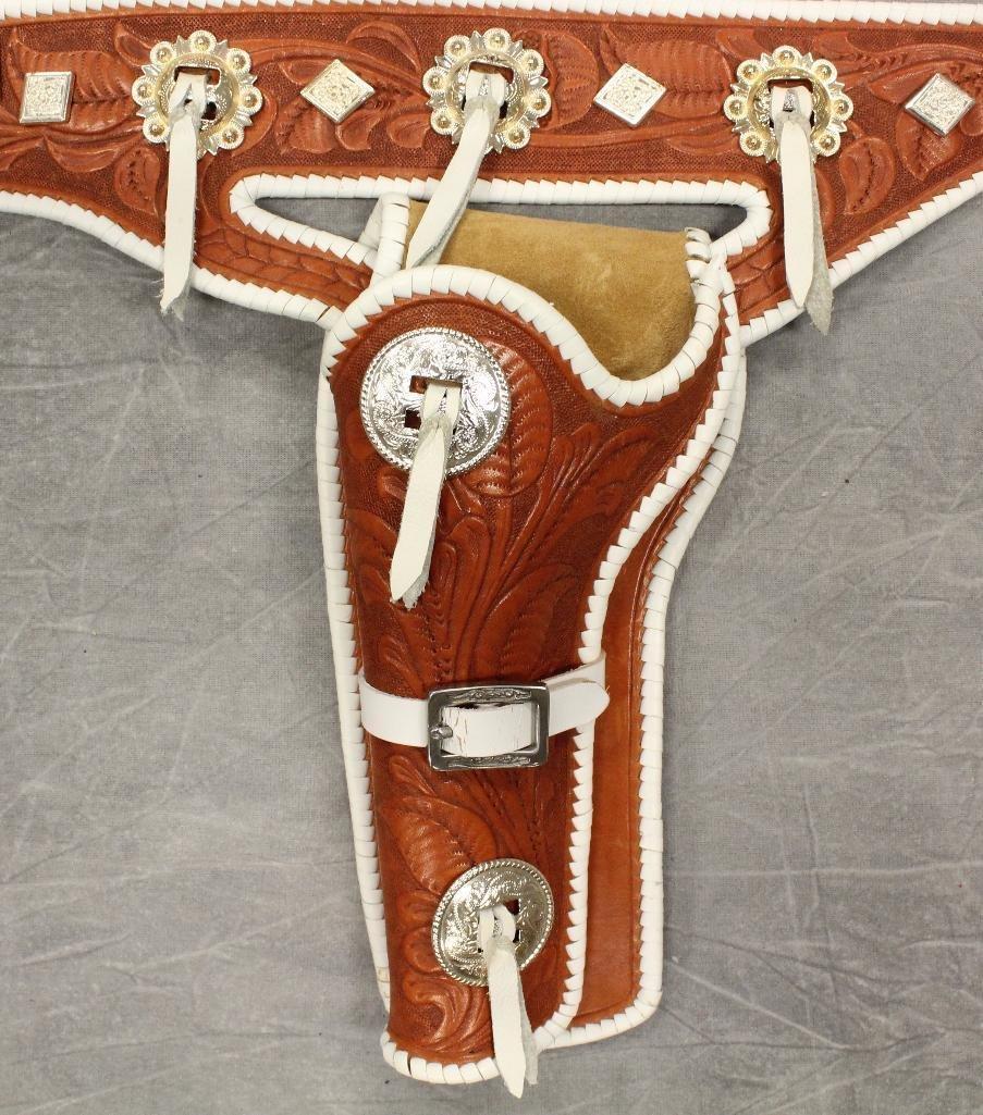 Buck Jones Double Buscadero Holsters and Gun Belt - 3