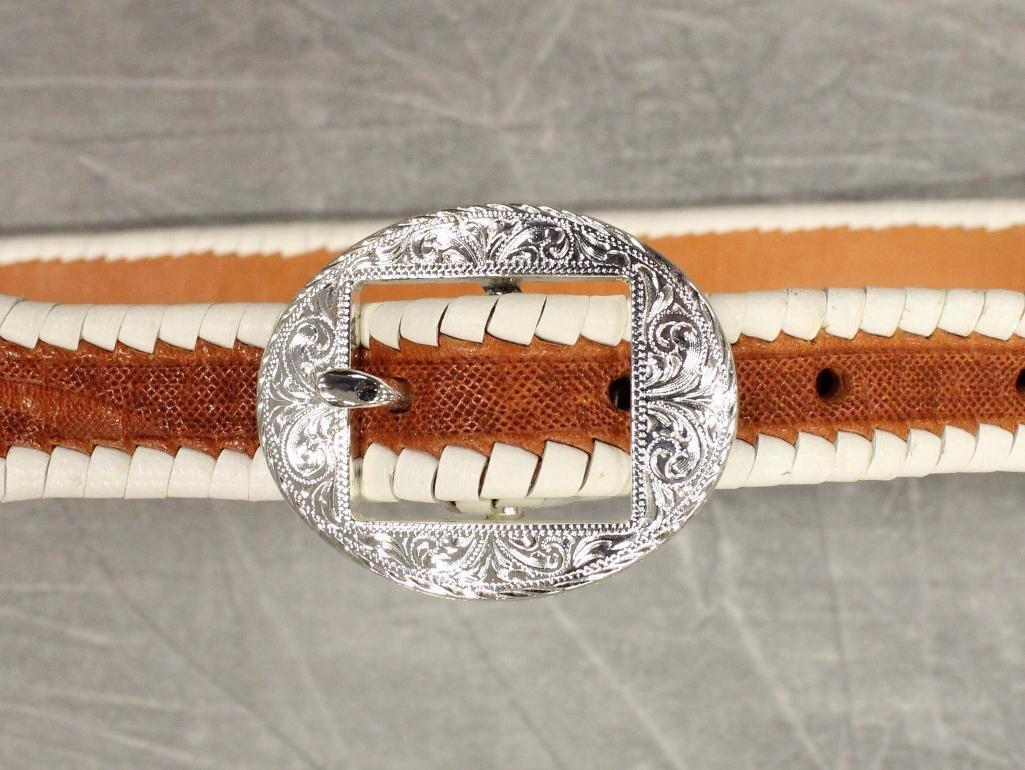 Buck Jones Double Buscadero Holsters and Gun Belt - 4