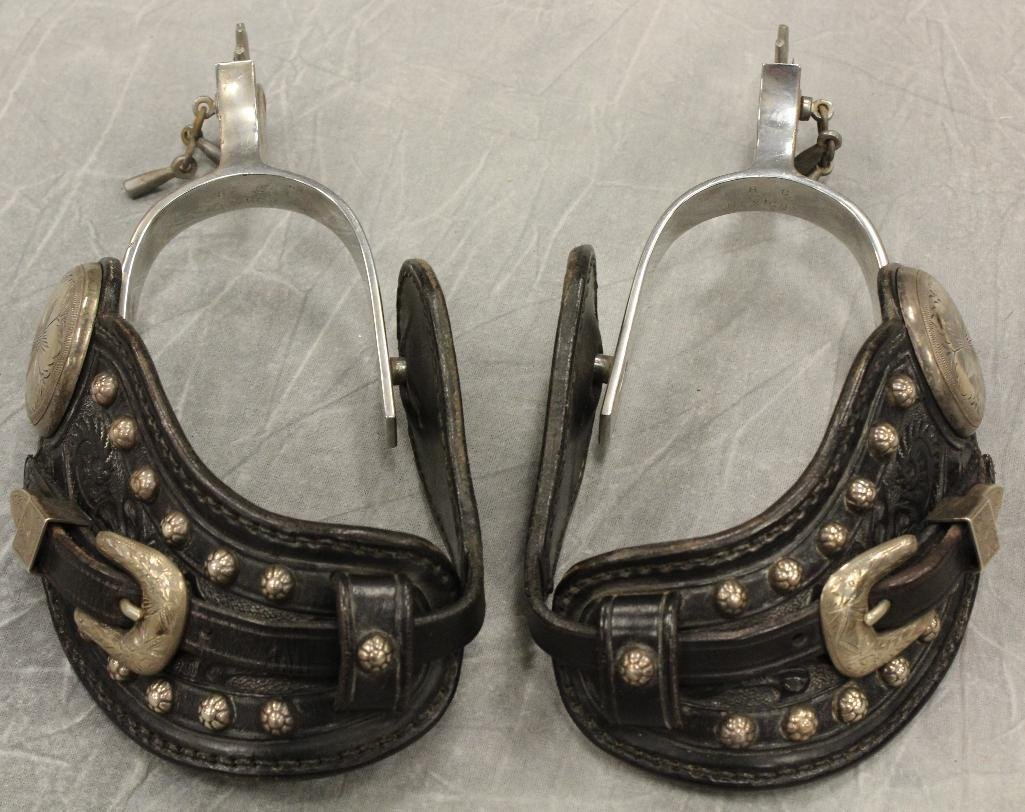 Chuck Medwork Lone Ranger Matching Silver Spurs and