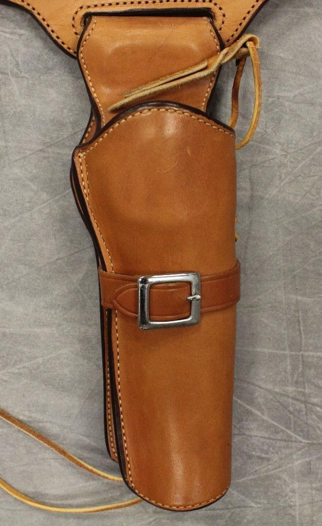 """Gunsmoke"" Single Holster gun Belt - 2"