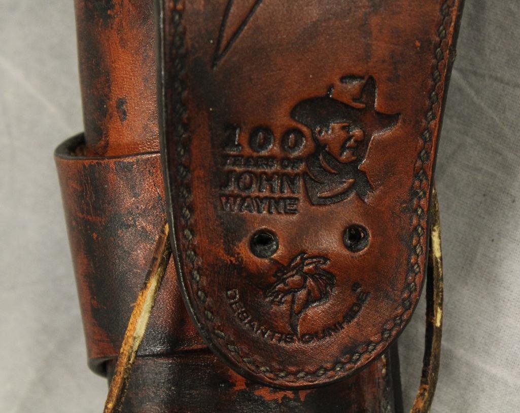 "John Wayne ""100 Years"" Single Holster Gun Belt - 5"