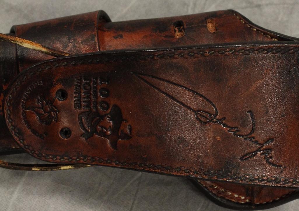 "John Wayne ""100 Years"" Single Holster Gun Belt - 6"