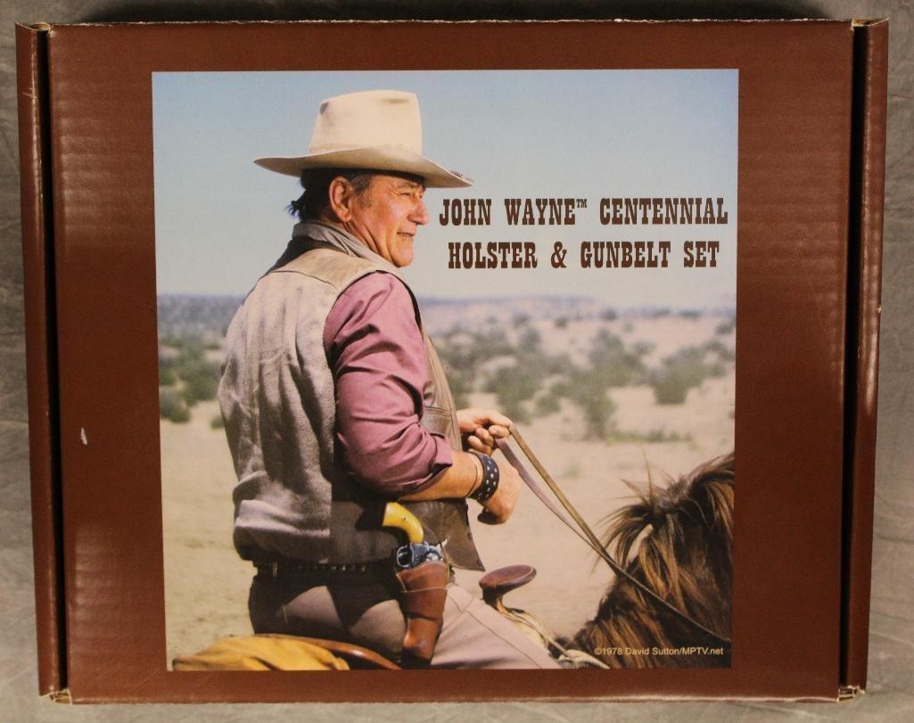 "John Wayne ""100 Years"" Single Holster Gun Belt - 9"