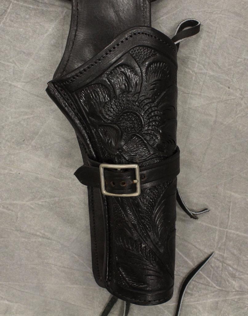 Black Double Holster Gun Belt - 2