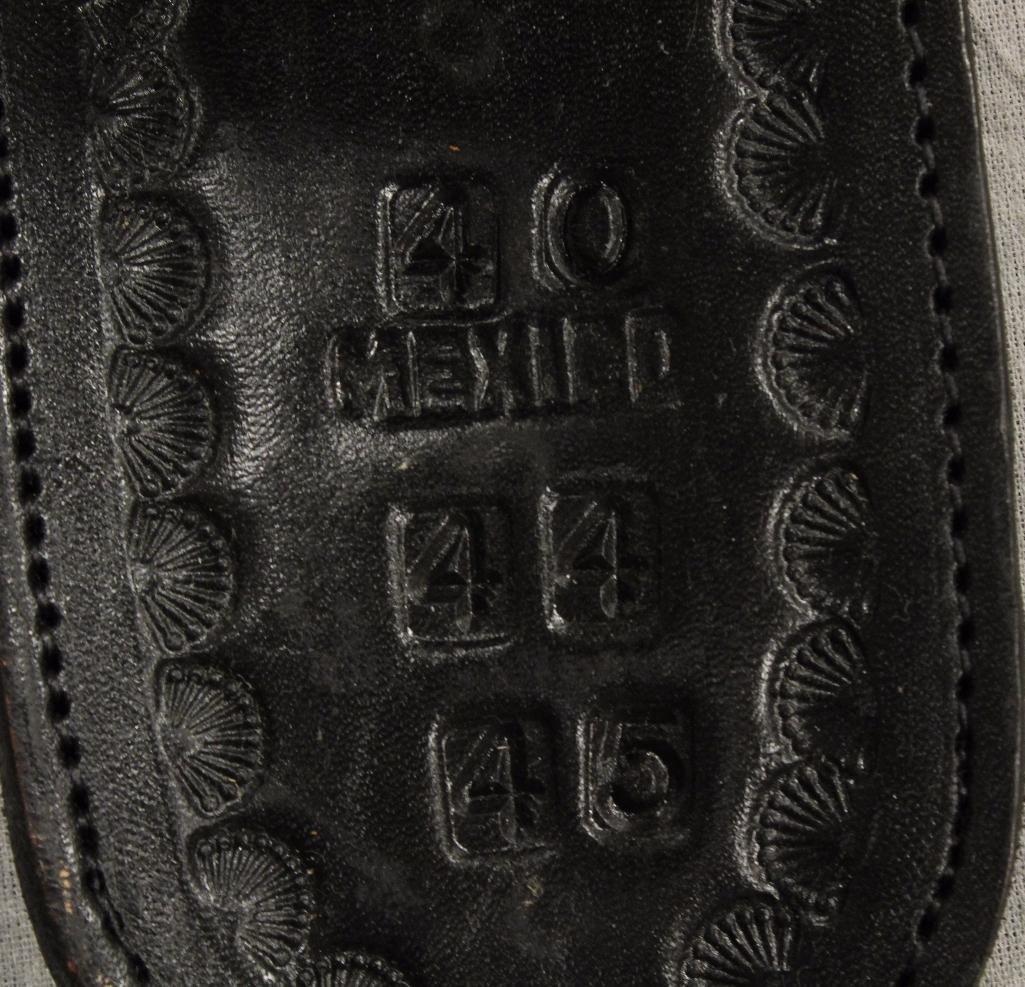 Black Double Holster Gun Belt - 7