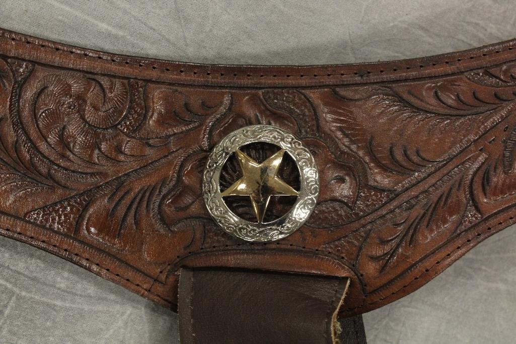 Brown Double Holster Gun Belt - 6