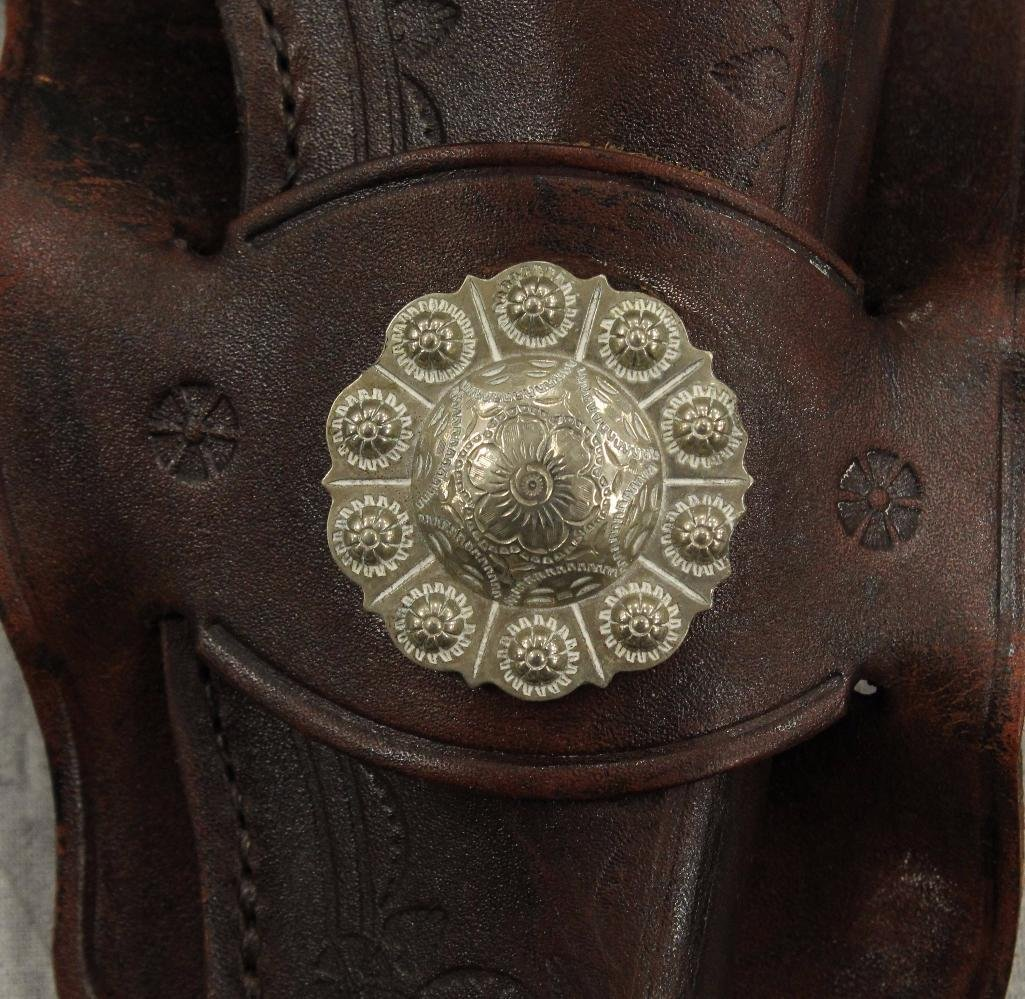 Brown Holster with Center Concho - 2