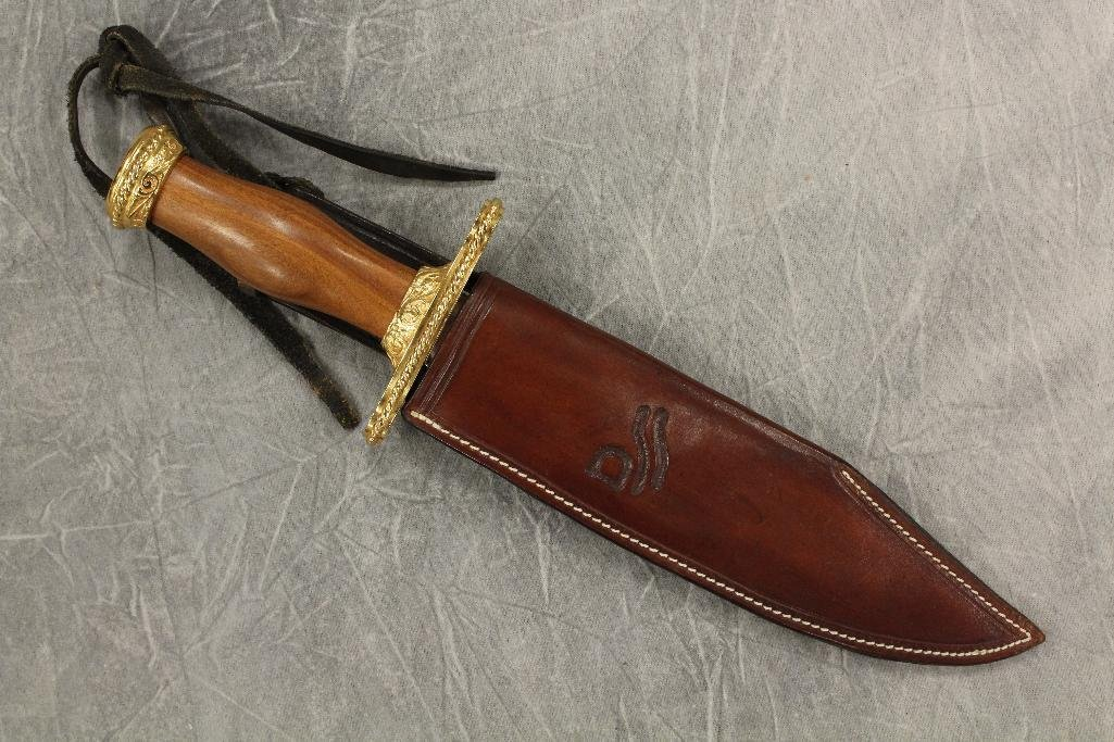 "Franklin Mint Bowi Knife in ""Red River"" Sheath"
