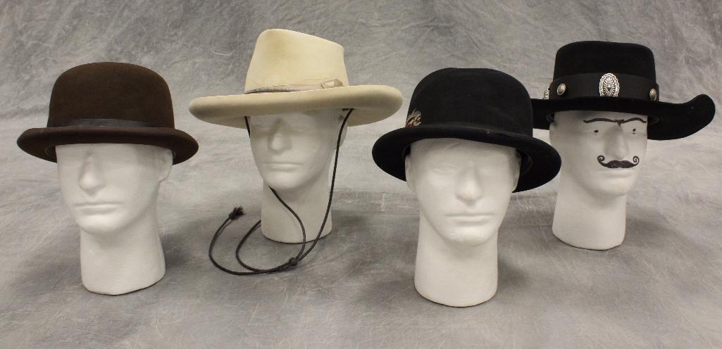 Lot of 4 Cowboy Hats