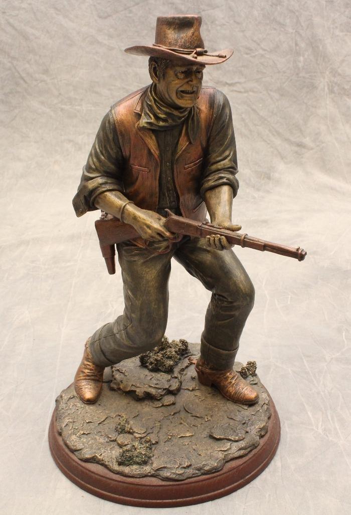 "Bradford Exchange John Wayne Sculpture ""Lawman"""