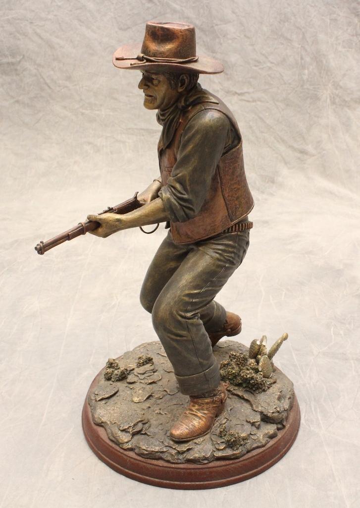 "Bradford Exchange John Wayne Sculpture ""Lawman"" - 2"