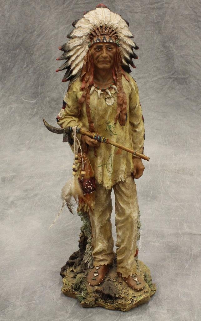 Standing War Chief Statue