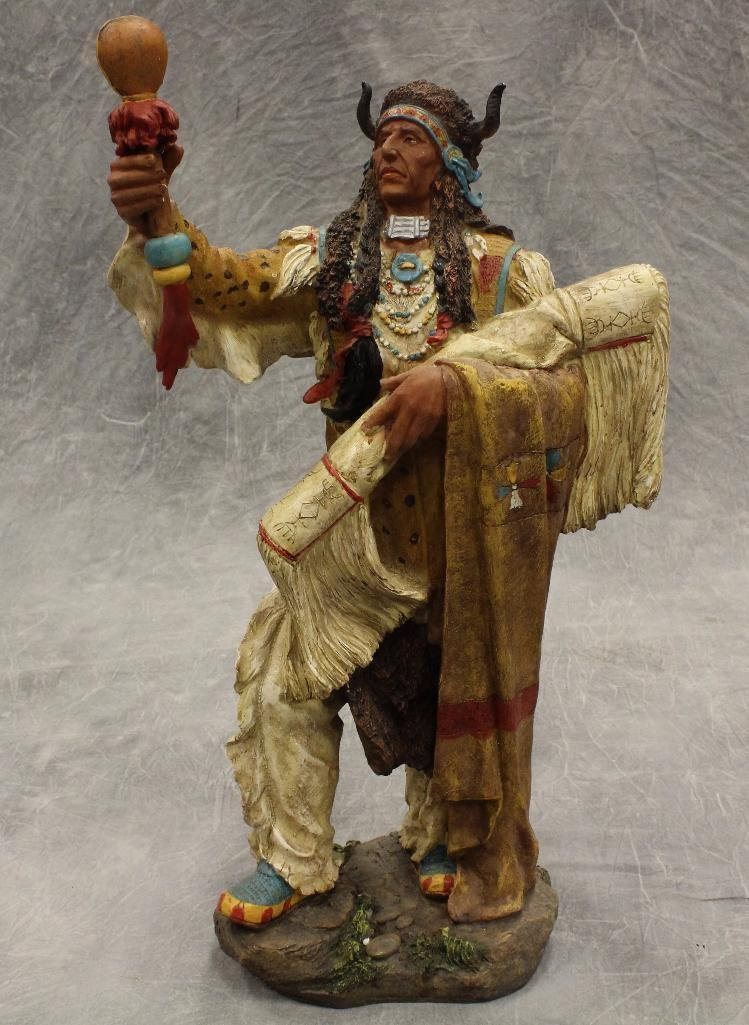 Standing Medicine Man Statue