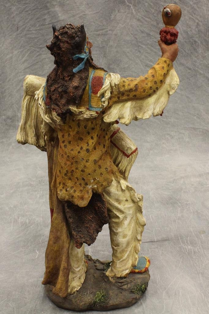 Standing Medicine Man Statue - 2