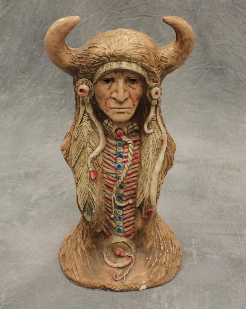 Medicine Man Bust Statue
