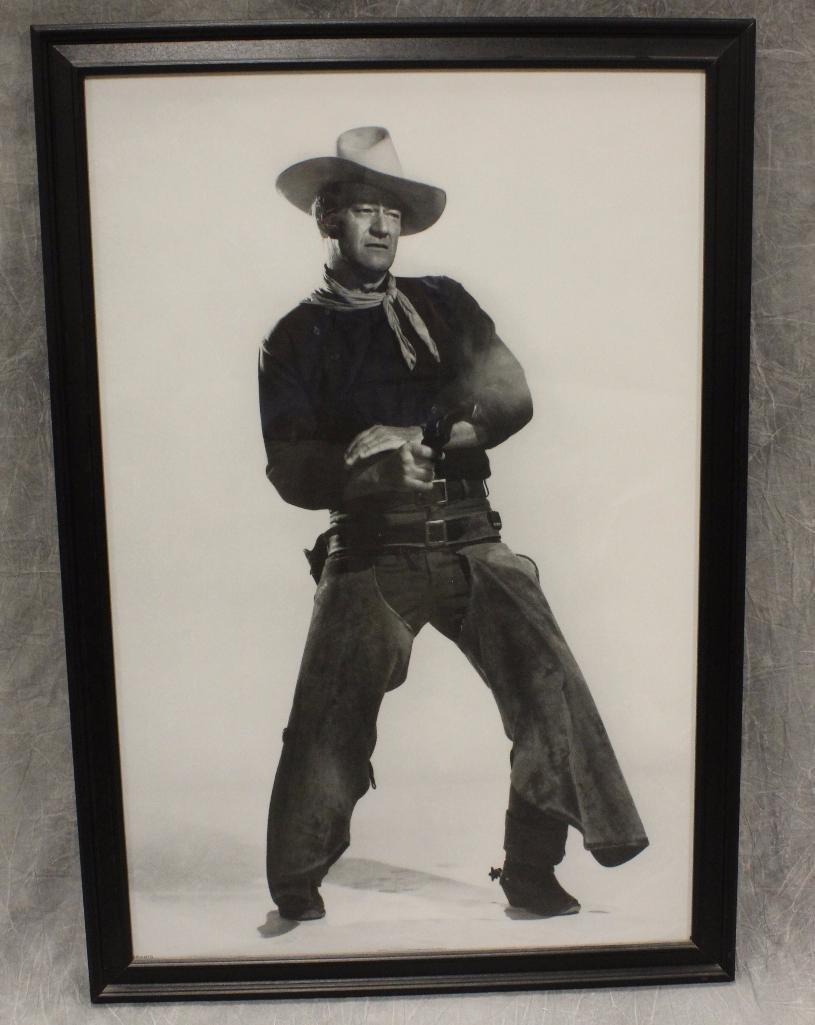 Portrait John Wayne Gun Stance