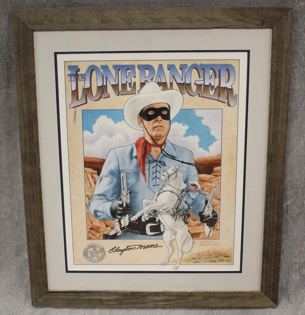 Clayton Moore Lone Ranger Signed Color Print