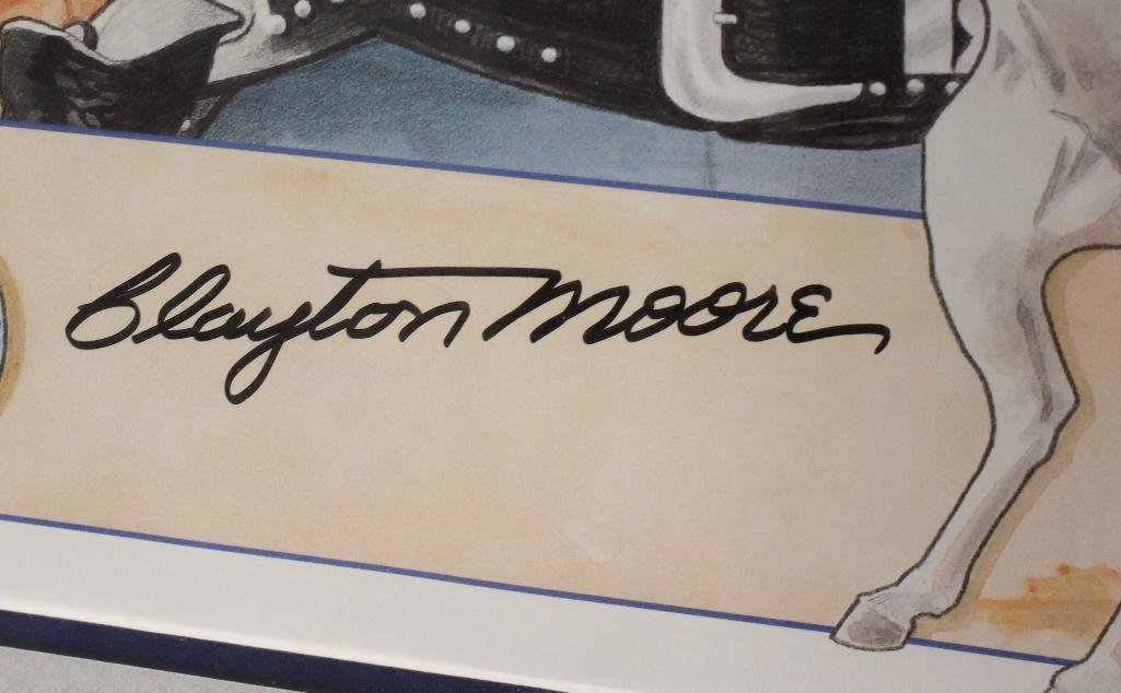 Clayton Moore Lone Ranger Signed Color Print - 2