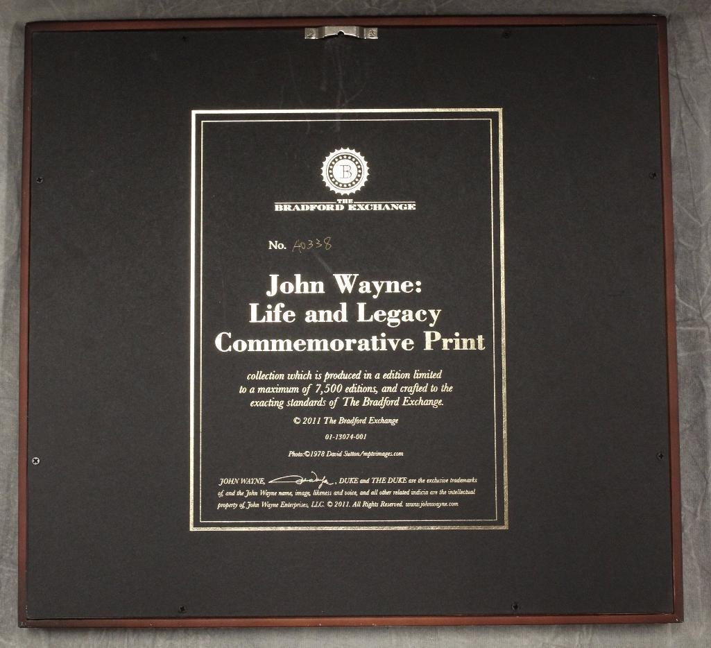 Bradford John Wayne Plaque - 4