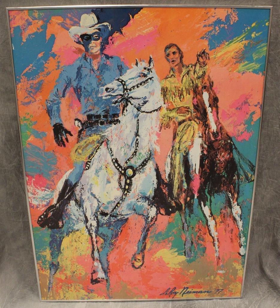 Lone Ranger and Tonto Color Lerox Neiman Print
