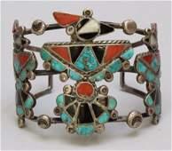 Native American Zuni Cuff Bracelet