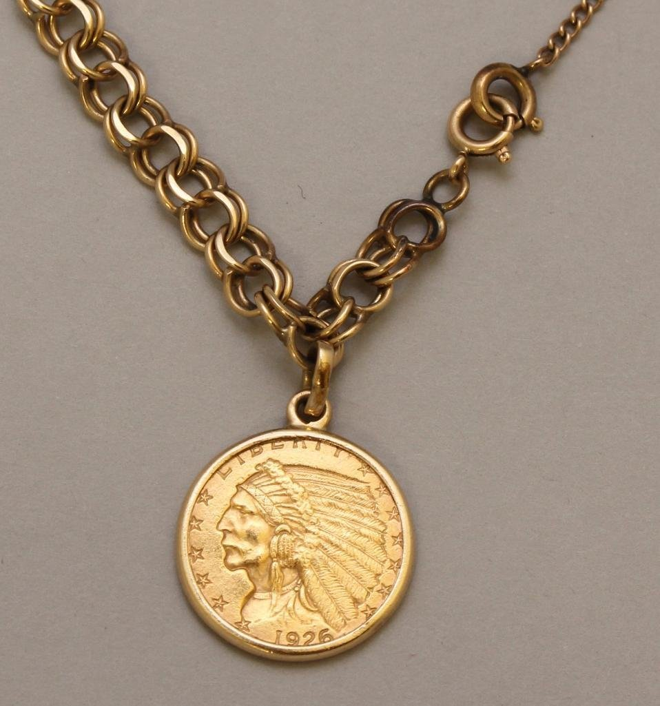 Bracelet with Coin Dangle