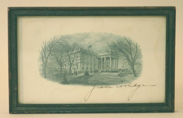 2006: Autograph of Grace Coolidge- First Lady