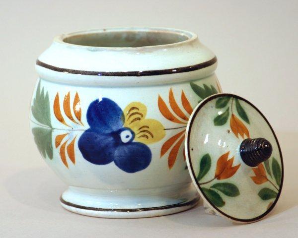 2397: Staffordshire China Covered Sugar Bowl