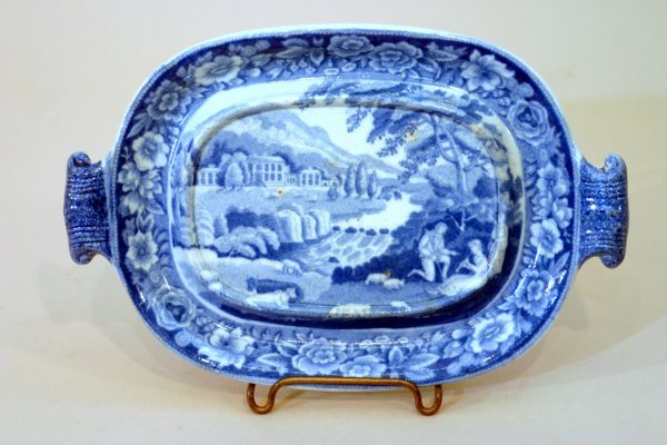 2402: Small English Blue and White China Stand