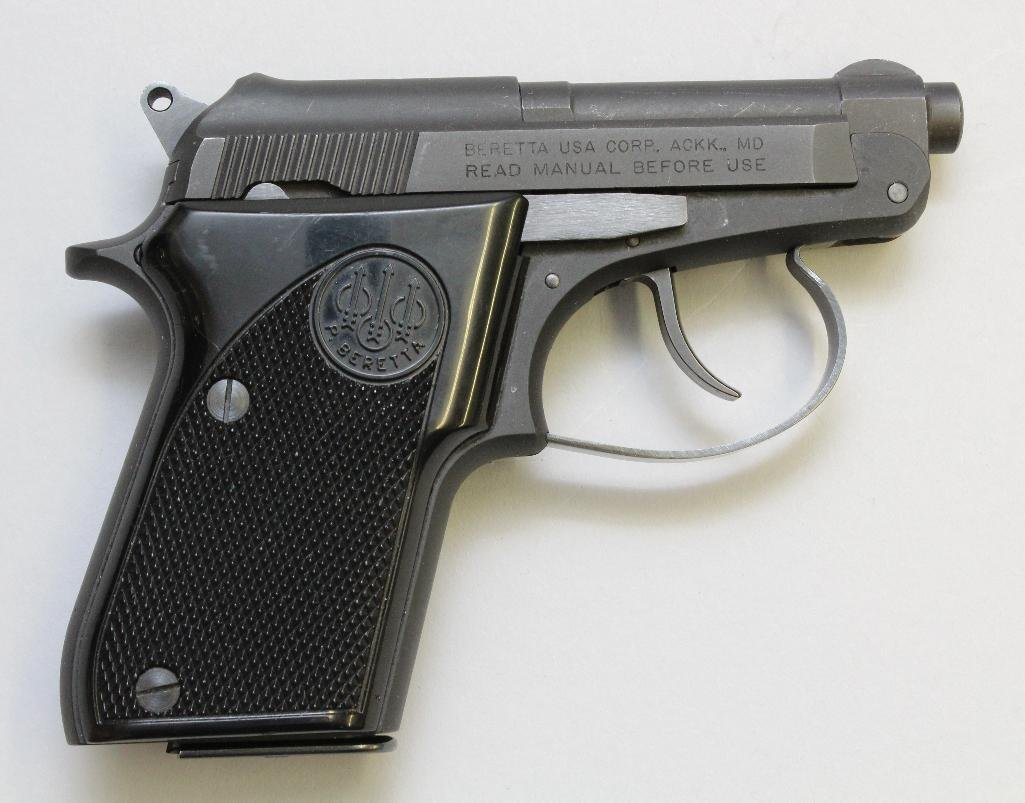 Beretta Model 21A Bobcat semi-automatic pistol.